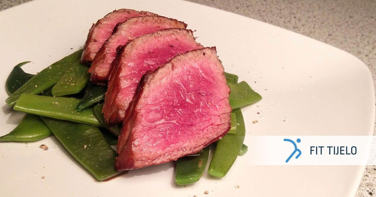 Sočni steak s mahunama