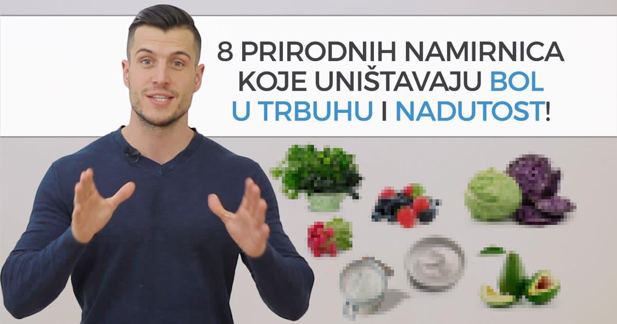 8 prirodnih namirnica koje uništavaju bol u trbuhu i nadutost
