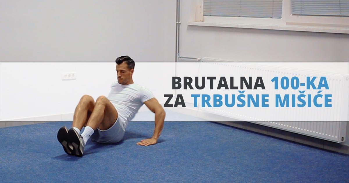 Brutalna 100-ka za trbušne mišiće