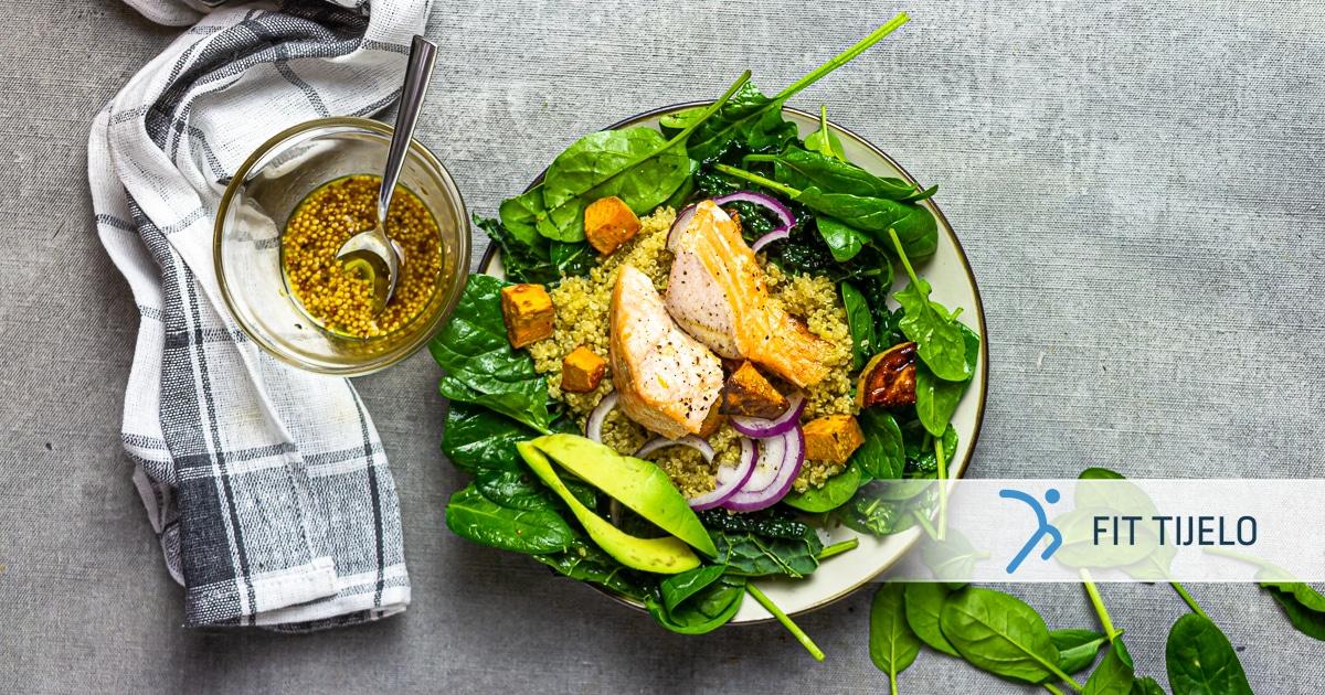 Kvinojina zdjela s lososom