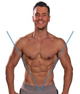 Široki mišići ramena Miha Geršič
