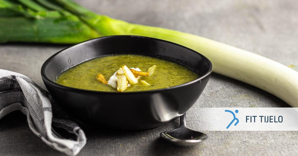 Krem juha od poriluka s batatom
