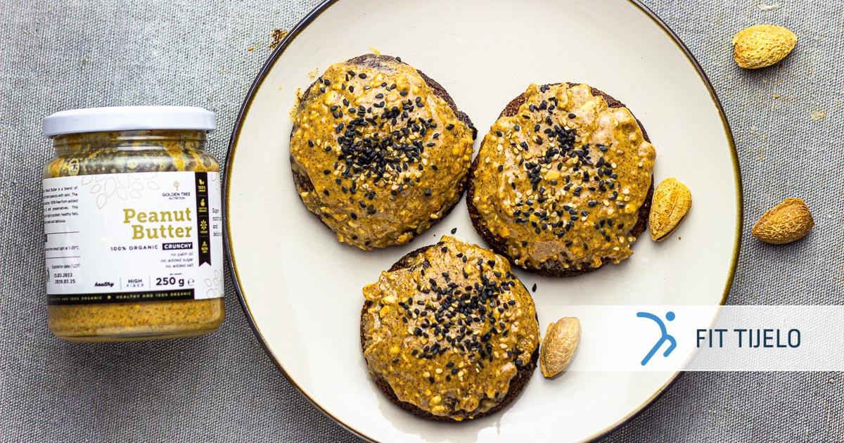 Keksi od badema s maslacem od kikirikija – bez glutena