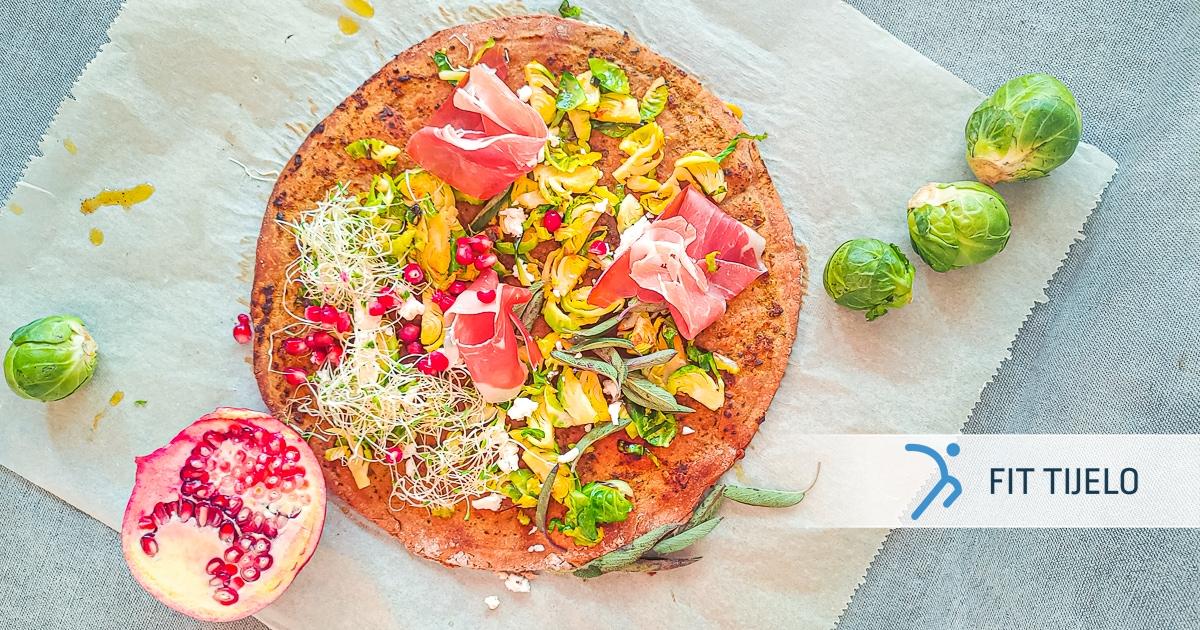 Pizza od raženog brašna s kaduljom i narom