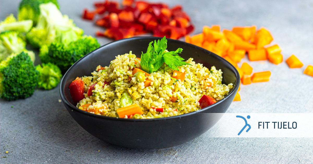 Kus-kus s povrćem u duginim bojama